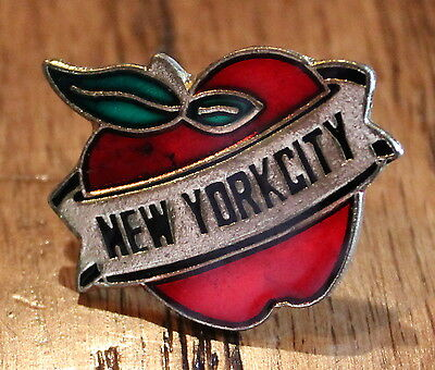 New Big Apple New York City NYC America USA Lapel Hat Pin Tie Tack