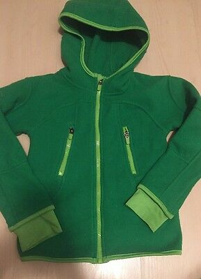 H&M Sport Kids Boy Zip Sweater Hoodie Jacket Green Sz 6-8