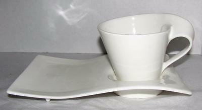 Villeroy & Boch White Fine China NEW WAVE Cup and Plate set