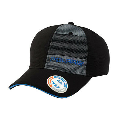 OEM Polaris Black Keith Curtis Shadow Stripe Fitted Cap Size Baseball Hat S/M