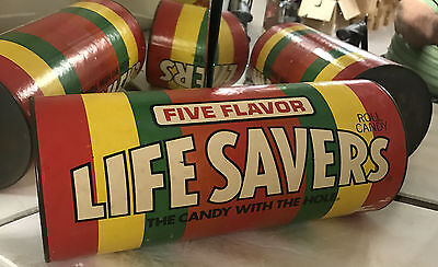 LIFESAVERS BANK CONTAINER Vintage GRAPHIC Nice