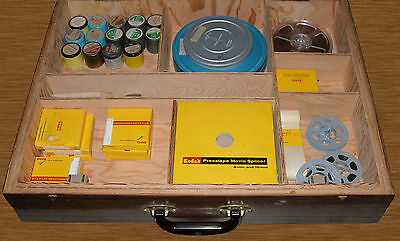 Lot of 30 8mm 16mm Films 17 are Mormon RLDS Plus Accessories and Large Wood Case
