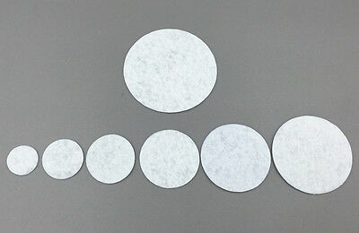 100Pcs White Round Felt Appliques Pads Fabric Flower & Brooch Back Non-woven