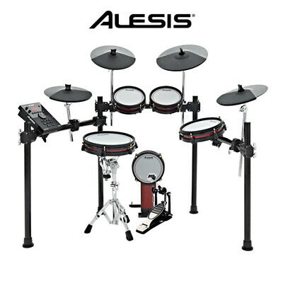 Alesis Crimson II Mesh Head 5pce Electronic Drum Kit set 3X cymbals bass pedal