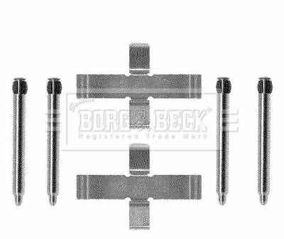 BORG & BECK BBK1177 FITTING KIT - PADS fit for d  Opel  Saab  Vauxhall