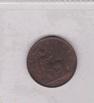 1862 Victorian Farthing In Extremely Fine Condition