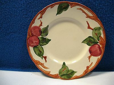 """Set of 4 FRANCISCAN APPLE 6 1/4"""" Bread Plates, Ivory, Red and Green~  USA"""