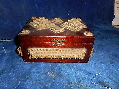Antique Tramp Art Box