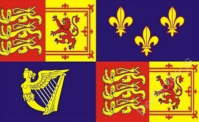 5'x3' 1707-1714 Royal Standard Banner Flag Queen Anne British History