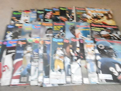 (33) 1970s 1980s SPORTS ILLUSTRATED magazine lot FOOTBALL