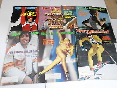 (7) 1970s 1980s SPORTS ILLUSTRATED magazine lot - OLYMPICS