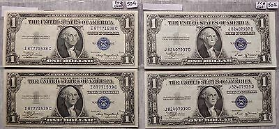 $1 Silver Certificate - Two Sets of Two Consecutives - 1935-A, 1935-B (Lot 504)