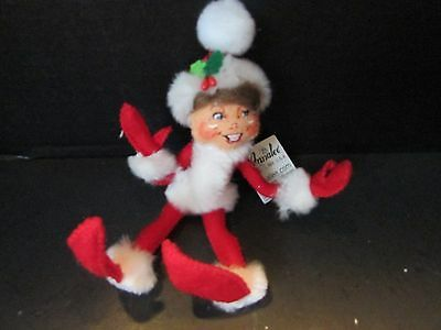 """Vtg Annalee 5"""" Cozy Christmas Elf 2012 With Tag"""