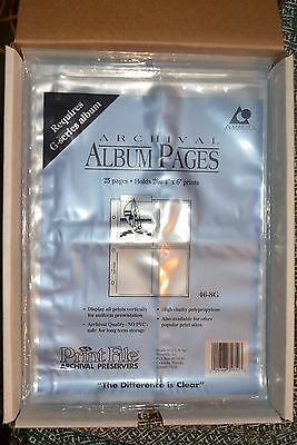 375 (15X25) Print File Archival Album Pages 46-8G Sealed In Original Packages