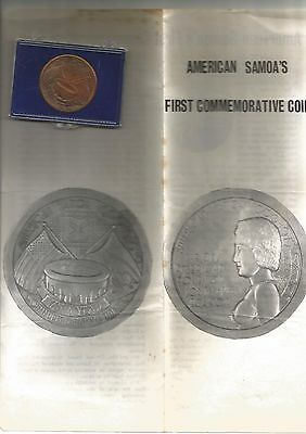 American Samoa Commemorative Medal - 75 Years Since Raising Of U.s. Flag
