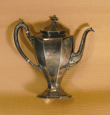 Vintage Reed Barton  Silverplated  Tea Pot with Hinged Lid Model-Style  #3690