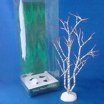 "Dept 56 Village Winter Birch Tree 12"" tall 5216-7 Dickens Village accessory"