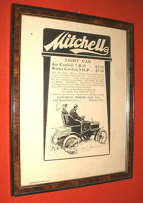 "PAINTING "" MITCHELL CAR  AIR COOLED "" ADVERTISING FRAMEWORK  ""  Quadretto"