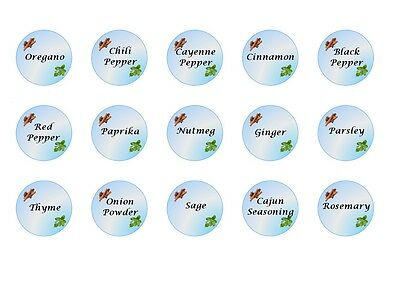 30 Blue Spices Stickers printed on Square Stickers Buy3 get1 Free (sp1)