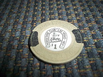 Horseshoe Club Benny Binion's Las Vegas Nevada 1.00 Casino Chip