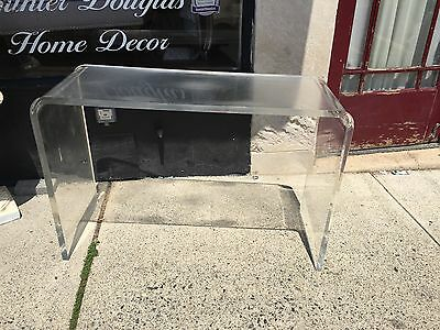 Vintage Mid Century Modern Molded Lucite Desk Console Table