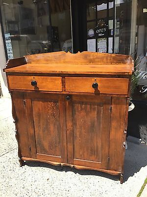 Antique 19th Century Jelly Cupboard Cabinet