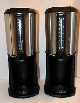 2 Kinox 2.5 Liter Connoisserve Thermal Gravity Hot Coffee Dispenser Servers