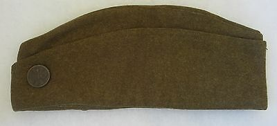 ORIGINAL WW1 Vintage US ARMY OVERSEAS CAP GARRISON HAT with SIGNAL CORPS EM DISK