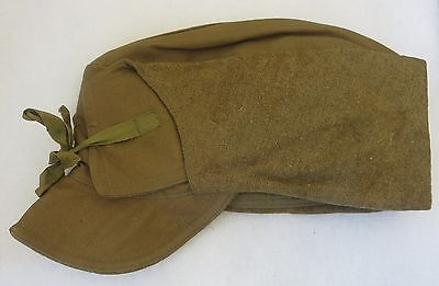 ORIGINAL WW1 Vintage US ARMY COLD WEATHER CAP WINTER HAT 1917 Tag Size 7