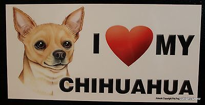 Chihuahua Magnet Dog Lover Car RV Display Anywhere Puppy Love Refrigerator