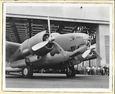 WW2 Lockheed Hudson Bomber Leaving Factory 8x10 Original Photo