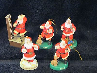 Coke Coca-Cola Christmas Ornaments Lot 23 All five are Santa's (a)