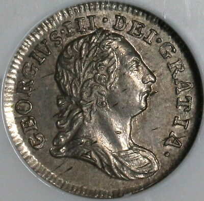 1784 NGC AU 58 Silver 2 Pence George III GREAT BRITAIN Coin POP 3/2 (16111713C)