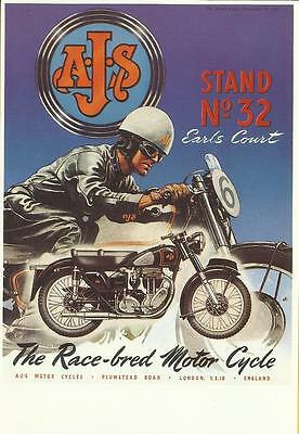 Mayfair Postcard - Best Of British Series - THE A.J.S. MOTORCYCLE
