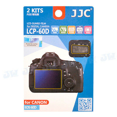 JJC 2 Kits Hard-Coating LCD Guard Film Screen Protector For Canon EOS 60D Camera
