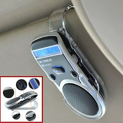 New Solar Wireless Bluetooth Car Handsfree Speaker Visor Clip for iPhone Android