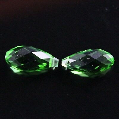4pcs 10X20mm Swaro-element Teardrop  crystal beads E Grass green