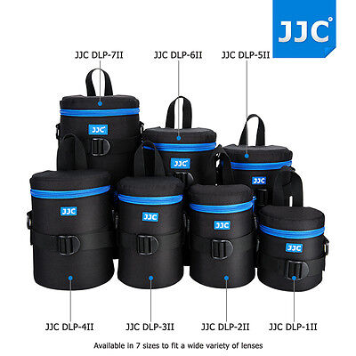 JJC Waterproof Deluxe Lens Pouch Bag with Shoulder Strap for DSLR Camera Lens