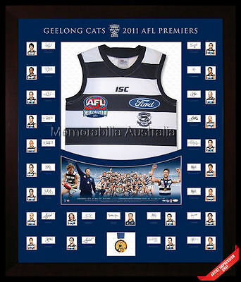 Geelong 2011 Signed Official Premium Premiership Jersey