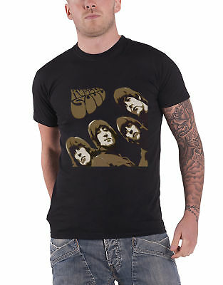 The Beatles T Shirt Rubber Soul Sketch new Official Mens Black