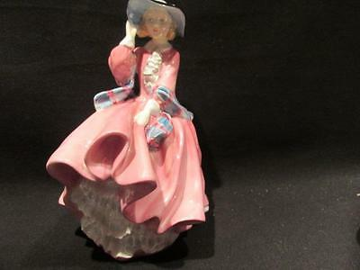 Top O' the Hill Royal Doulton HN1848 Vintage Figurine Pink with Plaid Sash
