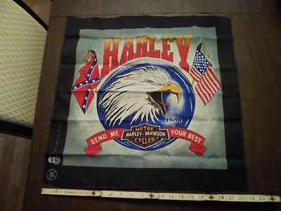 Vintage Harley Davidson Bandana Send Me Your Best 1980's