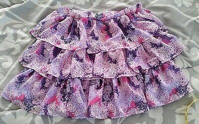 Girls Skirt Size Large 10/12 The Childrens Place Purple floral ruffle