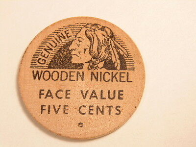 Old wooden nickel: 1966  Lycoming Coin Club show / Williamsport, PA Centennial