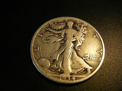 Usa 90% Silver 1934 S Liberty Walking Half Dollar Coin United States Of America