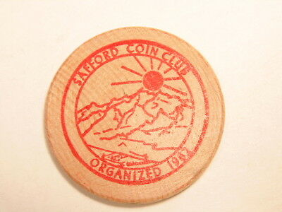 Souvenir 1969 Safford, Arizona Coin wooden nickel