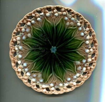 Antique Majolica Plate by Villeroy and Boch Schamberg Lily of The Valley 1132/9