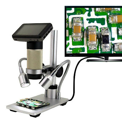HDMI Full HD Digital Inspection Microscope PCB Repair 10x-300x SMT SMD Camera