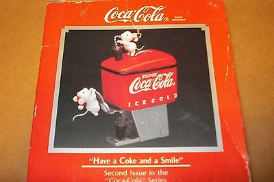 "Coca-Cola 1990 Enesco ""have A Coke And A Smile"" Dispenser Ornament New Mib"