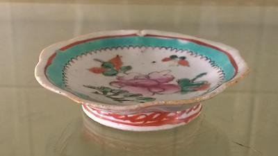 Chinese Guangxi Small Doucai Enamelled Footed Dish C  1871+
